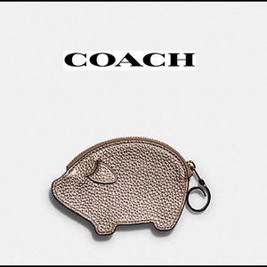 Coach  PARTY PIG COIN CASE  IM/METALLIC ROSE GOLD